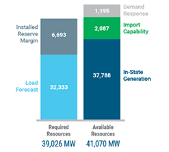 Figure 11: Statewide Resource Availability: Summer 2021