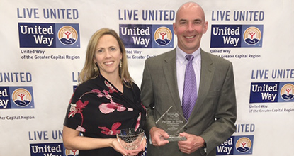 Rich Dewey and Emily Nelson - United Way